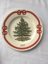 1997 Spode Christmas Tree Collectors Plate, 7 3/4 Inches