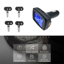 TPMS Car Tire Pressure Monitoring With 4 Internal Sensor Waterproof Bar or Psi