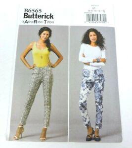 Butterick B6565 Sewing Pattern Womens Size 6-14 Pull On Pants New Uncut