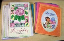 AF0124 19 ASSORTED GREETING CARDS & envelopes birthday wedding baby get well