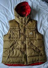 Moncler Rabelais Gilet Vest, Size 4 / Large Light Brown / Red