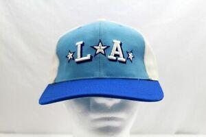 Los Angeles LA Vintage Big Boy Headgear Fitted Hat 7 3/8 Blue White