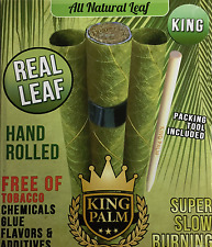 3x Leaves ( King Palm King Size ) All Natural Real Leaf No Chemicals + Tube