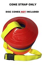World Sport Neon Yellow Disc Cone Carry Strap soccer football basketball volleyb