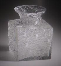 IITTALA FINLAND TIMO SARPANEVA CROCUS ICE ART GLASS VASE SIGNED MCM SCANDINAVIAN