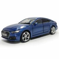 1:32 Scale 2020 Audi A7 Hatchback Model Car Diecast Gift Toy Vehicle Kids Blue