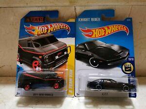 Hot Wheels TEAM VAN FURGONETA EQUIPO A y KNIGHT K.I.T.T. KITT Coche Fantástico