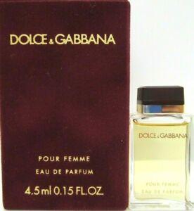 DOLCE & GABBANA POUR FEMME EAU DE PARFUM MINI SPLASH 0.15 Oz / 4.5 ml BRAND NEW