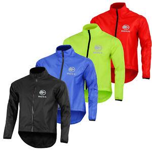 Mens Cycling Jacket High Visibility Waterproof Running Top Rain Coat By ROXX