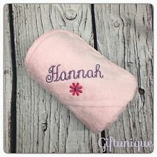 Personalised Embroidery Baby Hooded Bath Towel Gift Boy Girl ANY NAME Colour