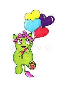 Little Balloon Monster Print - childrens art prints, childrens bedroom artwork