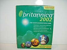 NEW Encyclopedia Britannica 2002 - Standard Edition CD for Windows-Mac Version
