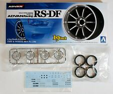 "Aoshima 1/24 Advan Racing RS-DF 19"" Wheel & Tire Set Plastic Model 0901 (146)"