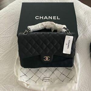 Chanel Classic Jumbo Double Flap in Black Caviar / SHW
