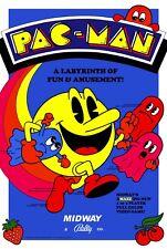 Pac Man (1980) Game POSTER | 5 Sizes | rare mame arcade toy amiga atari c64 snes