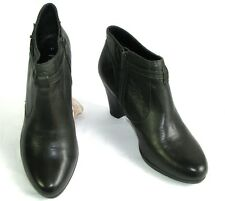 PIURE LEATHER - Bottines low boots talons tout cuir kaki foncé 41 EXCELLENT ETAT