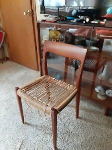 Mid century Danish Teak Desk Chair Project Needs Seat Restrung