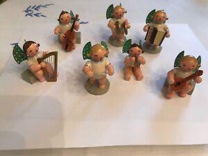Vintage Wooden Expertic Original Erzgebirge German Angel Figures