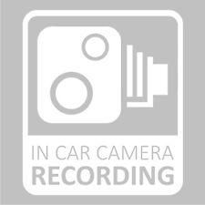 In Car CCTV Camera Recording Dash Cam Car Van Window Bumper Sticker Decal White