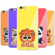 Animals Wearing 3D Glasses Eating Popcorn Hard Case Phone Cover for Apple Phones