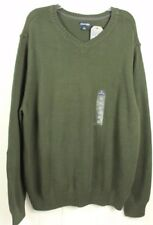 St. Johns Bay Mens Dark Green V-Neck Heritage Cotton Sweater Sz XL  NWT MSR $40