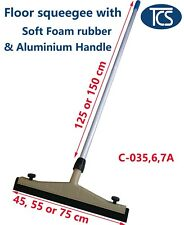 NEW Plastic Floor Squeegee with Soft Foam Rubber and Aluminium Handle