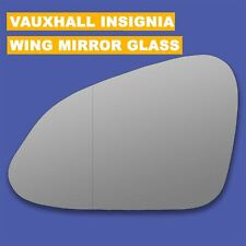 For Vauxhall Insignia wing mirror glass 08-17 Left side Aspherical Blind Spot
