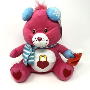 "Nanco 2006 Care Bears Secret Bear 11"" Pink Plush Christmas Winter Rare NWT"