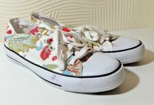 CONVERSE ALL STARS UK SIZE 6 WOMEN'S SHOES TRAINERS LEAF AND FLOWER DESIGN