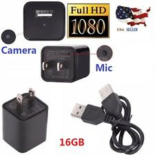 16GB Full HD 1080P Mini Spy Hidden Camera Video DV Charger Surveillance FBI USA