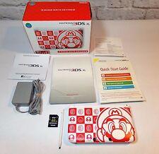 Nintendo 3DS XL Mario White Edition NTSC Limited Edition Handheld (RARE)