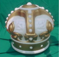"""Reproduction Gold Crown Gas Pump Globe approx 16""""w x 16""""h"""