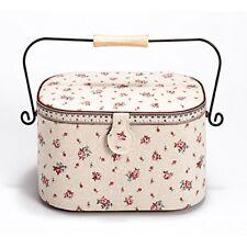 Prym delicado País Rosa Impresión cinta Métrica y Trim cesta de costura con a...