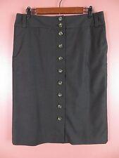 SK10514- BANANA REPUBLIC Woman 97% Seasonless Wool Pencil Skirt Dark Brown Sz 12