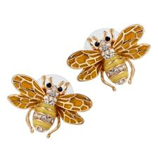 Honey Bee Stud Earrings Bling Jewelry Gift for Women Mom Daughter Her 7 Gold B