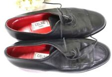 CELINE Black Leather Oxford Shoes Sz 37 7 Italy