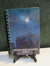 Greek Cookbook St Paul Greek Orthodox Church Grecian-American Cuisine Book II