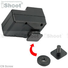 "Universal Cold Foot to 1/4"" Screw Adapter f Standard Camera Flash Hot Shoe Mount"