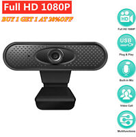 USB Full HD 1080P Webcam PC Digital Camera Video Recording With Microphone
