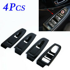 For Subaru XV Crosstrek Inner Window Switch Panel Cover Trim Carbon Fiber Parts