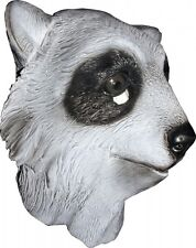 Full Raccoon Mask Latex Head DELUXE Costume Racoon Face Halloween Fancy Dress