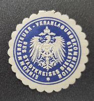 Siegelmarke 12549 S K Amtshauptmannschaft Bautzen