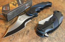 MTECH XTREME BALLISTIC BLUE Spring Assisted Opening Flipper Pocket Folding Knife
