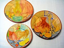 SET of 3 PLATES from PORTUGAL OLARIA PATALIM SP CORVAL
