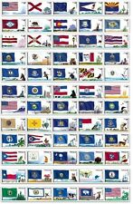Scott 4273-4332, Complete Set of 60 Flags of Our Nation Plate Number Coil Strips