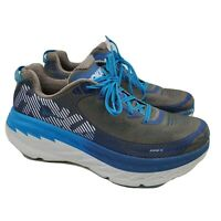 Hoka One One Bondi 5 Men's Blue Gray Running Shoes Size 11