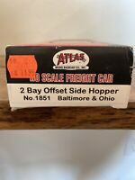 HO Scale Atlas 1851  Baltimore & Ohio 2 Bay Offset Side Hopper #234228