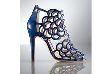 OSCAR DE LA RENTA Blue Gladia Cage Sandal Sz:39.5 Retail $895 NEW