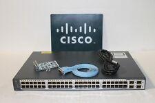 CISCO 3750 V2 48TS WS-C3750V2-48TS-S 48 Port Catalyst Switch WS-C3750-48TS-S