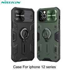 NILLKIN Camera Slide Case For iPhone 12 Pro Max Mini 11 Armour Ring Holder Cover